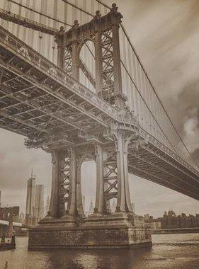 Dutch Wallcoverings fotobehang City Love New York Vintage Brown CL04C