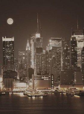 Dutch Wallcoverings fotobehang City Love New York Vintage Brown CL08C