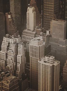 Dutch Wallcoverings fotobehang City Love New York Vintage Brown CL12C