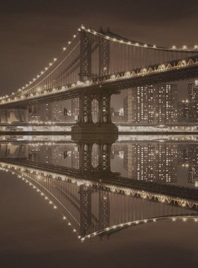 Dutch Wallcoverings fotobehang City Love New York Vintage Brown CL30C