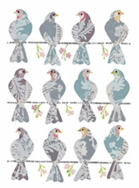 Freestyle muursticker Doves 17025