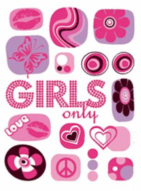Freestyle muursticker Girls Only 17006