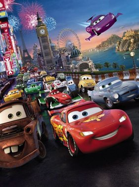 Disney fotobehang Cars Race 4-401