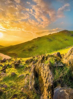 National Geographic fotobehang Mountain Morning 8-525