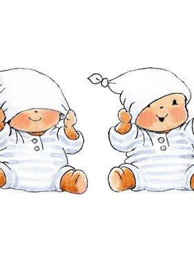 Stickerkids muursticker Baby Bobbi met muts SRKMM001