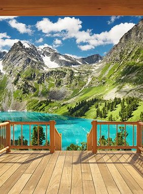 Walltastic fotobehang Alpine Mountain XXL 43619