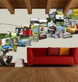 1Wall 1Wall fotobehang Creative Collage Villager Jim
