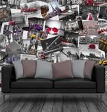 1Wall 1Wall fotobehang Creative Collage City Scene