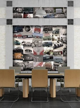 1Wall fotobehang Creative Collage Volkswagen