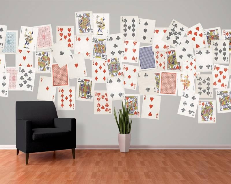 1Wall 1Wall fotobehang Creative Collage Playing Cards