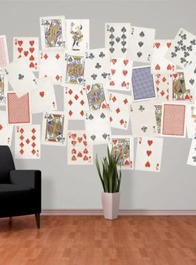 1Wall fotobehang Creative Collage Playing Cards