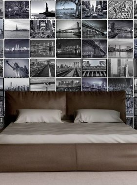 1Wall behang Creative Collage Big Apple