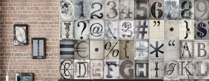 Creative Collage, uniek en origineel behang