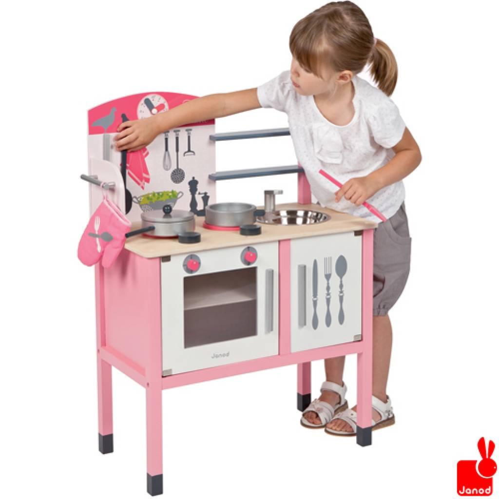 Janod keukentje mademoiselle rose 8 accesoires educatief speelgoed - Cuisine en bois jouet pas cher ...