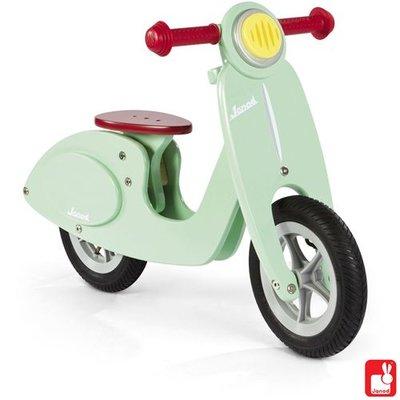 Janod Houten scooter in mint kleur voor kids