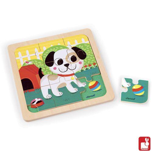 Janod puzzel hond titus educatief speelgoed for Poppenhuis kind 2 jaar