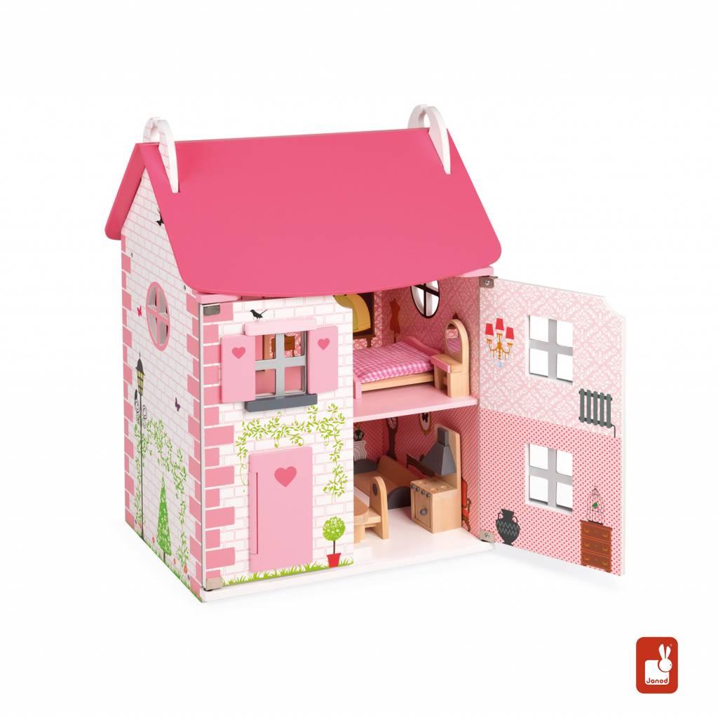 Janod poppenhuis mademoiselle educatief speelgoed for Groot poppenhuis