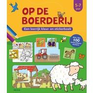 Deltas Op de boerderij, een leerrijk kleur- en stickerboek