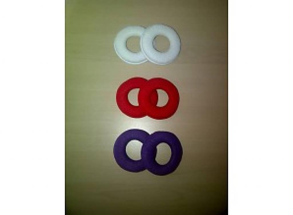 WeSC Ear Cushions 3-pack, hot orange, white/orange/purple