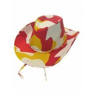 Karneval- & Fest Zubehör: Cowboy-Hut (rot/weiß/gelb)