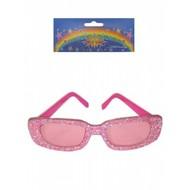 Fest-zubehör: Dandy-brille rosa