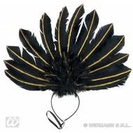 Karnevalsaccessoires: Kopfband aus Federn