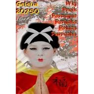 Karneval- & Fest Zubehör: Geisha Perücke