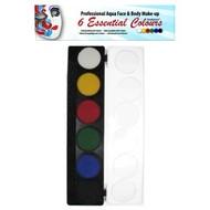Schmink-palette aqua 6 Farben standard