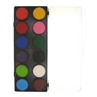 Schmink-palette aqua 12 Farben standard