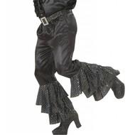 Karnevals-Kleidung: Schwarze Satin/samt Hose mit Naht