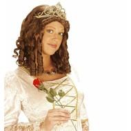 Karnevalsperücke \'\'Königin mit Krone\'\'