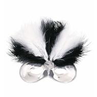 Augenmaske Montmartre mit Federn