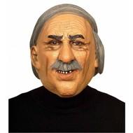 Maske: alter Mann mit Schnurrbart