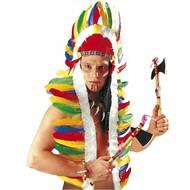 Indianer Federschmuck mehrfarbig