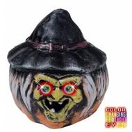 Halloween Accessoires: Kurbisch Hexe und Auge mit Licht