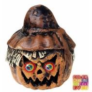 Halloween Accessoires: Kurbisch Vogelscheuche mit Licht