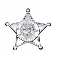 Faschings-accessoiren Silberne Sheriff-Stern