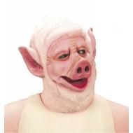 Maske: Schwein mit plüschen Kapuze
