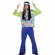 Karnevalskostüm Hippie Mann (velvet)