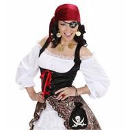 Karnevals-accessoires: Piraten Schmuck-Tasche