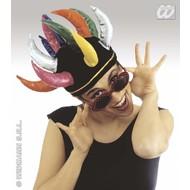 Kopfbedeckung Mütze mit Hörnchen