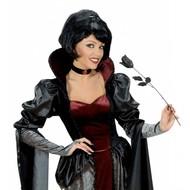 Halloweenaccessoires: Schwarze Rose