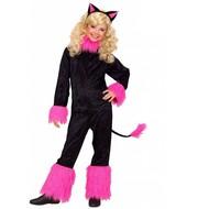 Katzen Mädchen schwarz/rosa