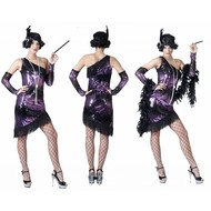 Party-kostüme: Charleston violett Lindy