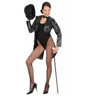 Festbekleidung: Damen Frackmantel (Satin schwarz)