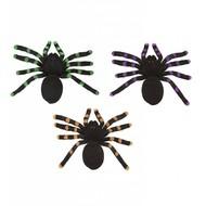 Halloween Accessoires: Set aus 2 spinnen mit glanz Muster 24cm