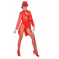 Festbekleidung: Damen Frackmantel (Satin rot)