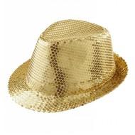 Faschings-accessoiren goldener glitzer Hut