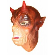 Latex Maske Affe mit Hörnchen