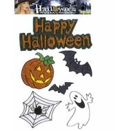 Halloweenaccessoires: Fenster-aufkleber